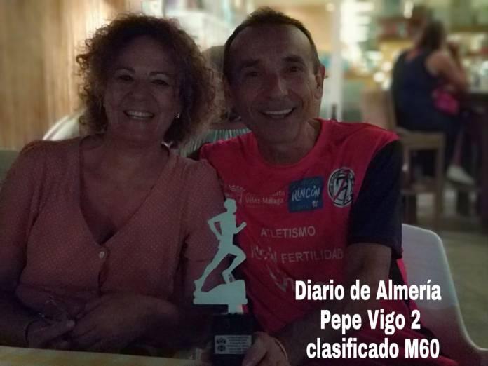 El veleño José Vigo, segundo clasificado en la VII Media Maratón Ciudad de Vera