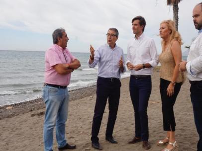 El PP pide al Gobierno fecha y hora para buscar una solución a la estabilización de las playas de Málaga