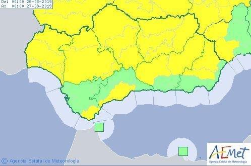 Málaga, en alerta amarilla por lluvias