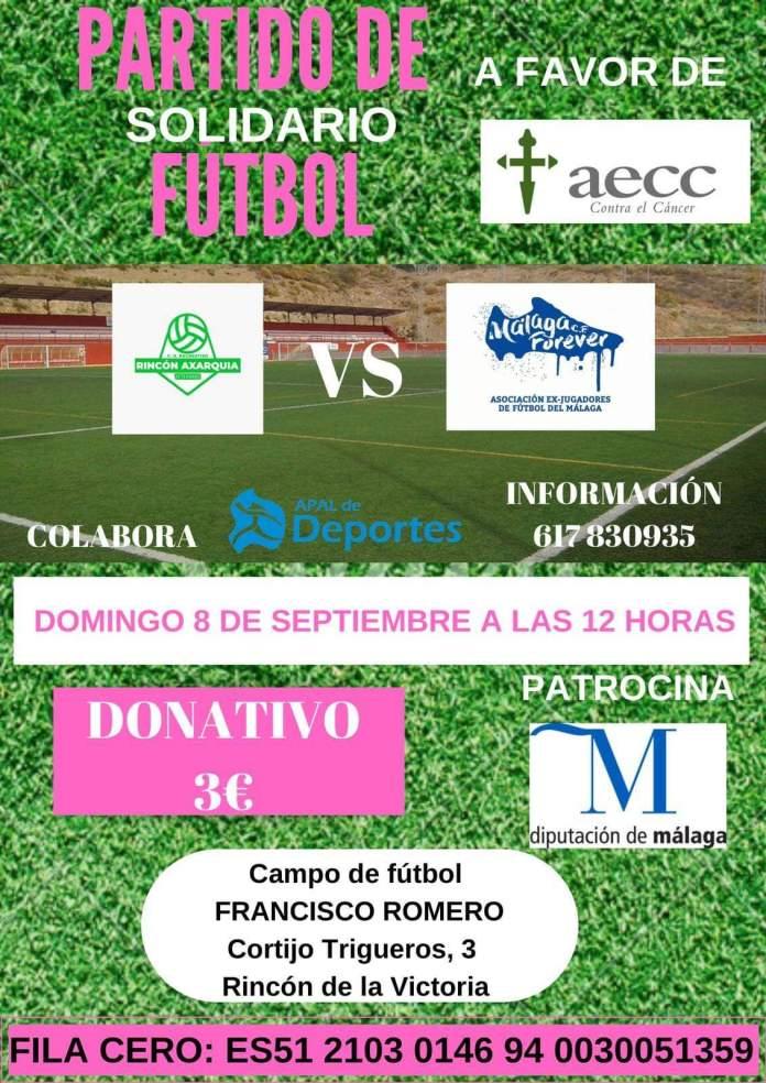 El Club Federativo Rincón-Axarquía Veteranos y Málaga C.F Forever disputarán un partido de fútbol solidario a beneficio de la Asociación Española contra el Cáncer