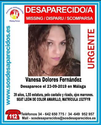 La Policía Nacional localiza en buen estado de salud a una mujer de 39 años desaparecida desde el día de ayer en Málaga