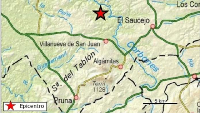 Sentido un terremoto de magnitud 3,9 en varios pueblos de la provincia de Sevilla