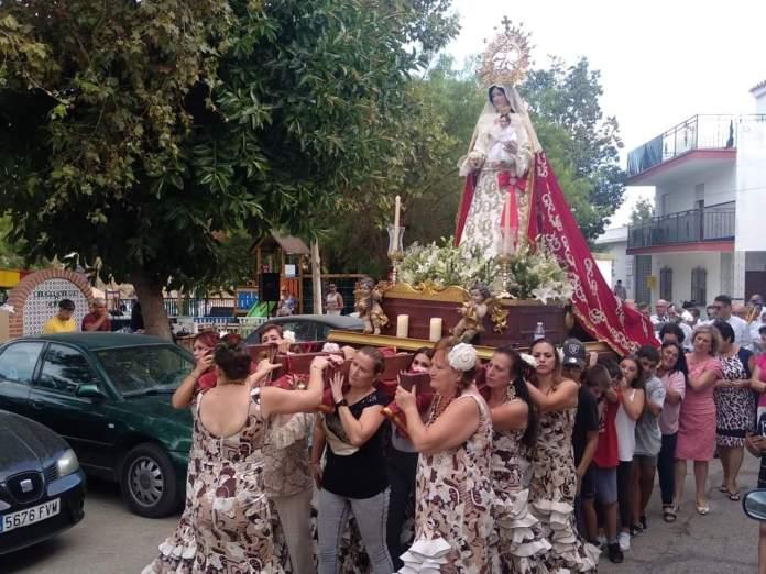 Cajiz celebra su fiesta en honor a la Virgen del Rosario