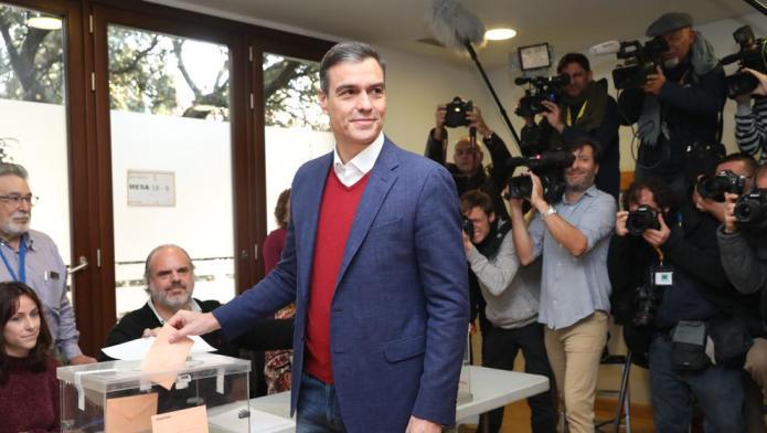 Pedro Sánchez: «El voto de hoy elegirá la España de mañana»