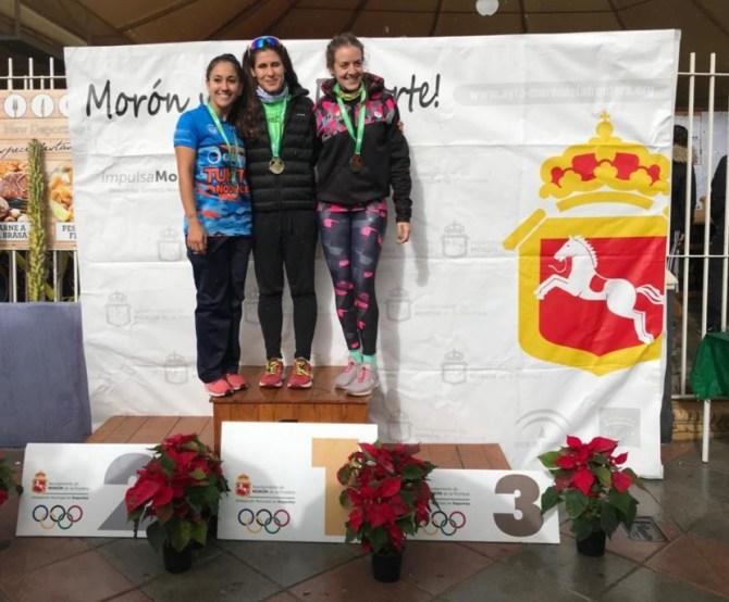 Marta López, campeona de Andalucía senior de duatlón sprint en Morón de la Frontera