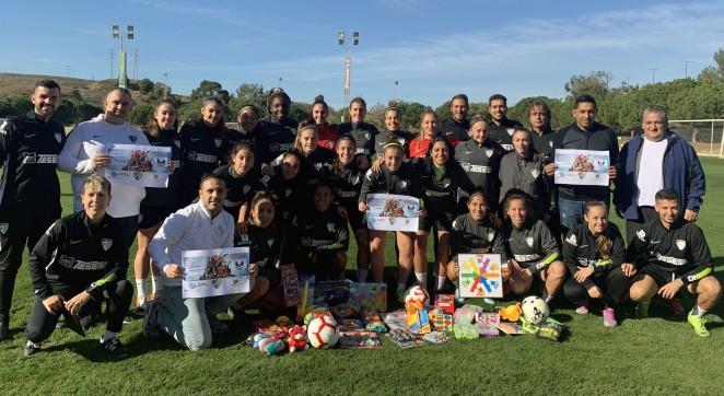 El Málaga CF Femenino despide el año en casa y con un partido benéfico