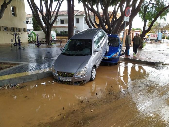 La Diputación solicitará que Campanillas sea declarada zona catastrófica tras las fuertes lluvias del fin de semana