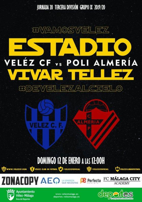 Vélez CF – Poli Almería, el domingo en el Vivar Téllez