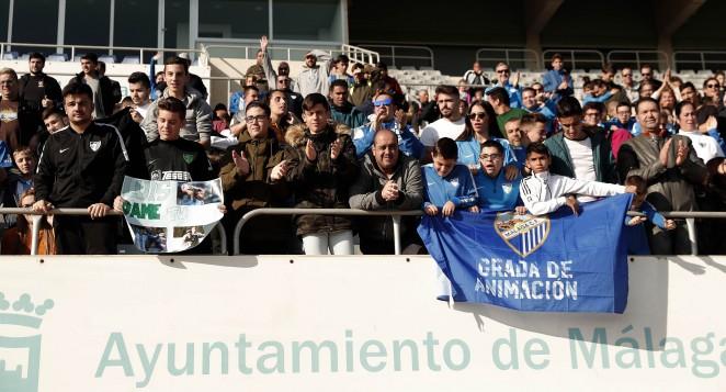 Nuevo año con entrenamiento a puerta abierta del Málaga CF