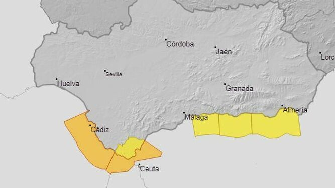 Activada la alerta amarilla por fuerte viento y olas en la Axarquía