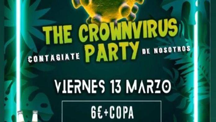 Una discoteca de Sevilla convoca la fiesta del coronavirus 'contágiate con nosotros'