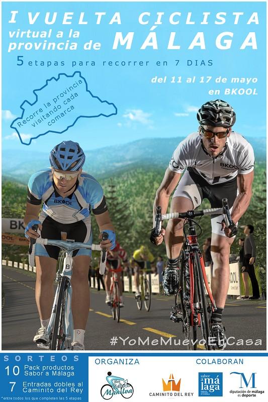 Nace la I Vuelta Ciclista Virtual a la Provincia de Málaga con el apoyo de la Diputación