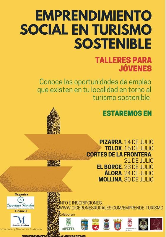 El Borge acogerá un talleres sobre «Emprendimiento social en modelos de turismo sostenible»