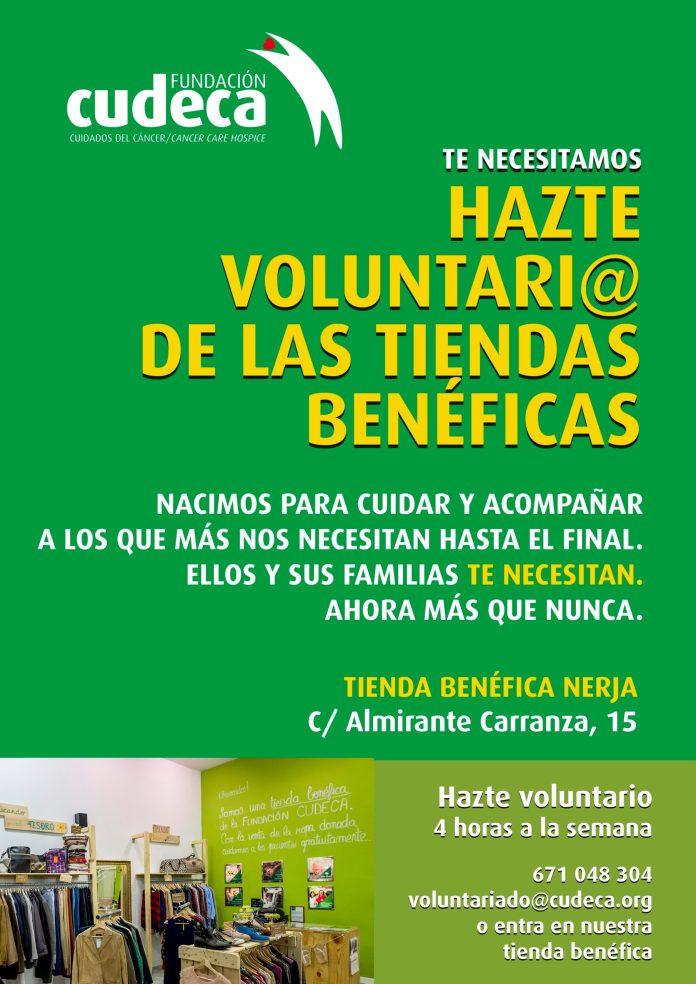La tienda benéfica de Cudeca en Nerja necesita urgentemente voluntarios