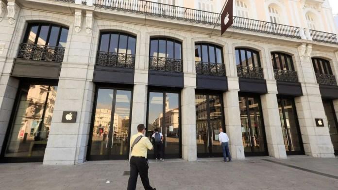 Apple cierra sus tiendas en Madrid ante el aumento de coronavirus