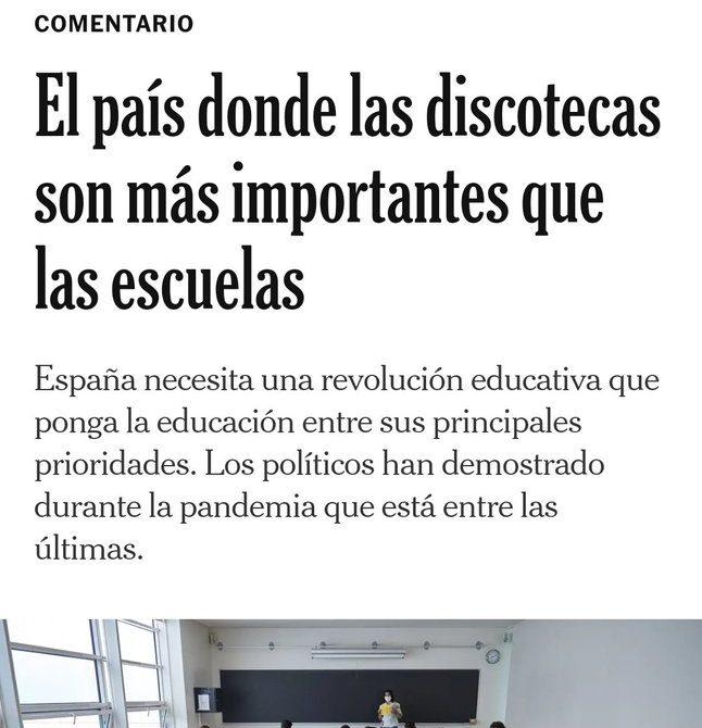 'The New York Times' destaca que el fútbol, playas, corridas de toros y discotecas son las prioridades en la apertura de España tras meses de confinamiento