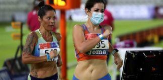 """""""Por mi trabajo, supongo más riesgo para los demás y no me cuesta ningún esfuerzo ponerme la mascarilla"""", afirma Elena Díaz, novena en los 10.000 m marcha del Campeonato de España, y pediatra de profesión."""