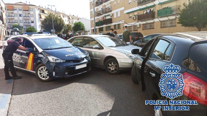 La Policía Nacional detiene en Antequera a un conductor de un vehículo dado a la fuga que embistió un coche patrulla
