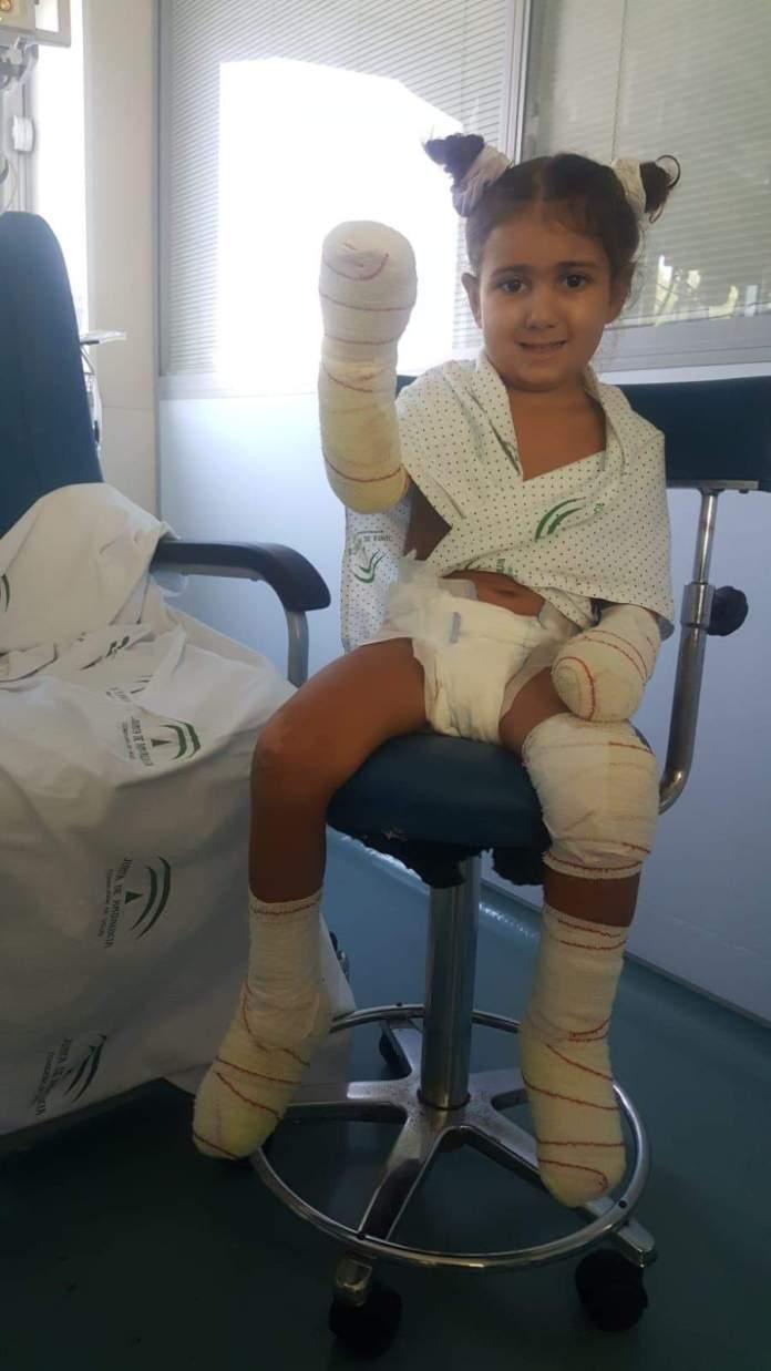 Piden ayuda para Carlota, una niña enferma de 4 años de Vélez-Málaga