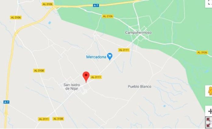 Encuentran fallecido a un ciclista en la carretera AL-3111 en Níjar