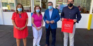 Visita a la Guardería Municipal La Fortaleza de Vélez-Málaga con medidas se seguridad contra el coronavirus.