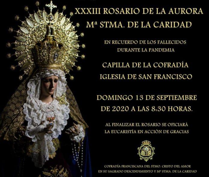 La Cofradía de la Caridad de Vélez-Málaga hará una misa por los fallecidos durante la pandemia del Coronavirus