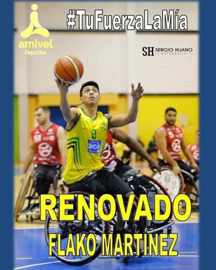 Amivel ha anunciado que el jugador Efraín Martínez 'Flako' hará su cuarta temporada en el equipo absoluto del Club Deportivo AMIVEL BSR del que será capitán.