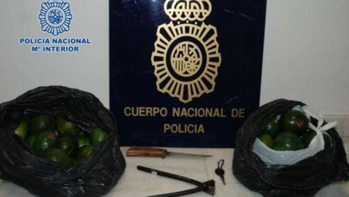 Arrestado un hombre de 35 años por robar de 250 kilos de aguacates en Vélez-Málaga