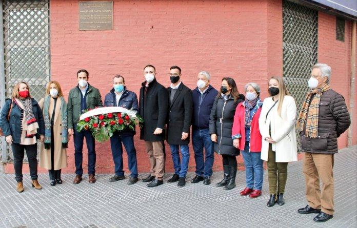 El PSOE de Málaga homenajea a García Caparrós en el 43 aniversario de su asesinato