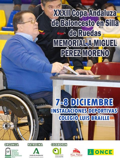 La Copa Andaluza de Baloncesto en Silla de Ruedas se celebrará los días 7 y 8 de diciembre