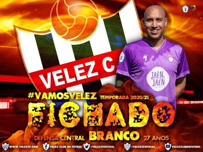 El Vélez C.F. ficha a Carlos Branco,  procedente del Real Jaén C.F.