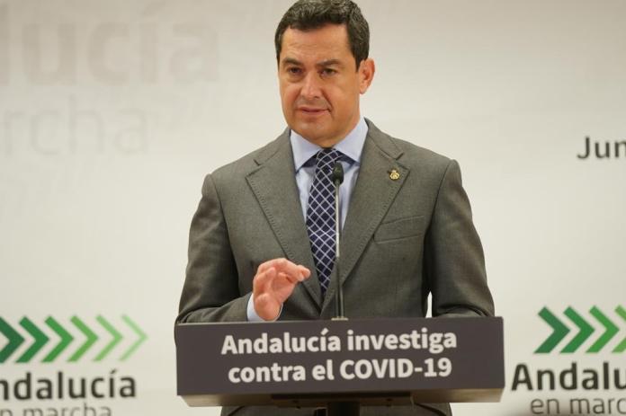 El presidente andaluz detalla las medidas que hay impuestas en la comunidad para frenar el avance de la pandemia de coronavirus