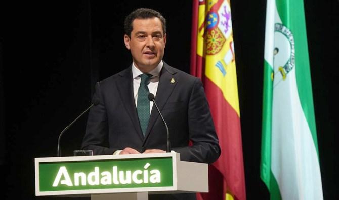 El presidente de la Junta de Andalucía, Juanma Moreno, ha hecho este 28 de Febrero un llamamiento a la unidad a toda la sociedad andaluza para la reconstrucción social y económica.