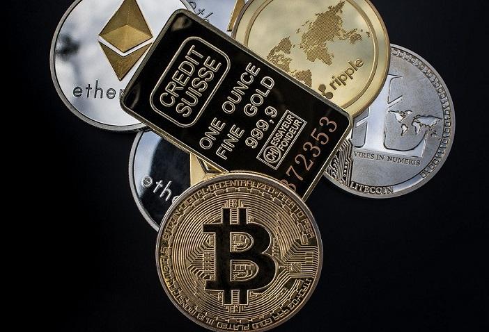 Bitcoin criptomonedas oro pixabay