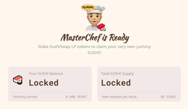 Interfaz Sushiswap. Imagen extraída de la página web de SushiSwap