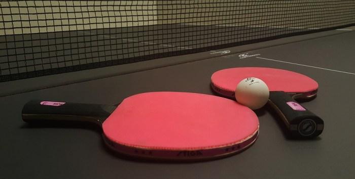ping-pong paddles