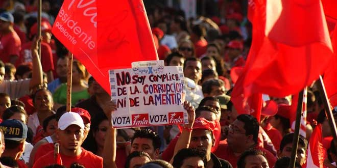 La alegría y esperanza del cierre  de campaña del FMLN