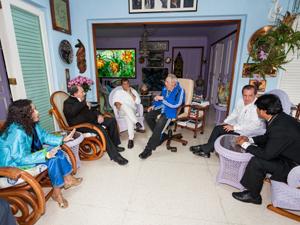Fidel Castro se reunió en La Habana con presidentes Correa, Ortega y Morales