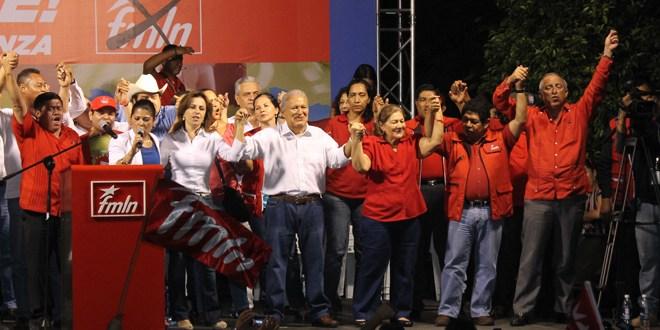 FMLN cierra campaña electoral  con sabor a triunfo