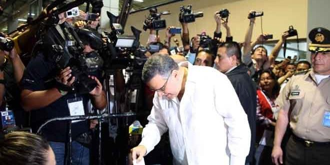 Presidente Funes destaca voto residencial y en el exterior