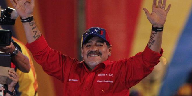 Maradona muestra total apoyo a causa bolivariana y chavista