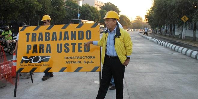 Autoridades del MOP habilitan paso vehicular  en inmediaciones de parque Infantil