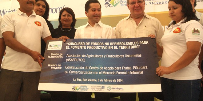 MINEC incentiva a pequeños productores  de la región de los Nonualcos