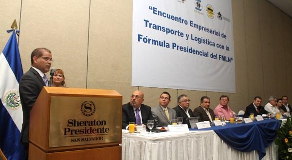 Fórmula del FMLN se compromete con empresarios del transporte a fortalecer el sector