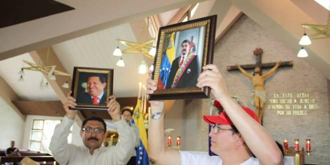 El Salvador celebra misa por primer aniversario del gobierno de Nicolás Maduro Moros