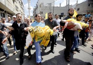 Más de 330 palestinos muertos en Gaza, Ban Ki-moon viaja a la región