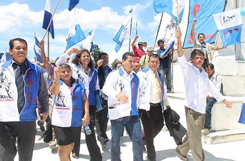 Directorio Nacional del derechista Partido Fraternidad Patriota presentó este día parte de sus candidatos a alcaldes y diputados