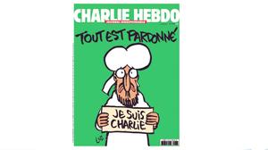 Charlie Hebdo, con Mahoma en portada, se muestra al mundo tras la matanza