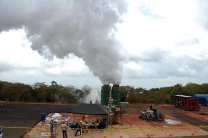 El campo geotérmico de Chinameca, donde fue inaugurado el pozo CHI-6A tiene una extensión de 99 Km cuadrados y está ubicado en el cerro El Limbo y El Pacayal Foto Diario Co Latino / Josué Parada