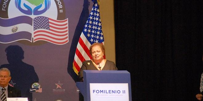 Embajadora Aponte satisfecha  con el inicio del Fomilenio II